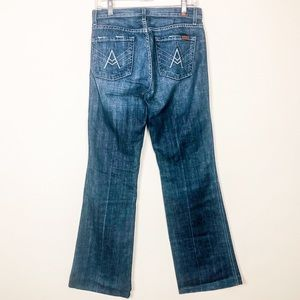 7FAMK A Pocket Medium Wash Wide Leg Jean 29